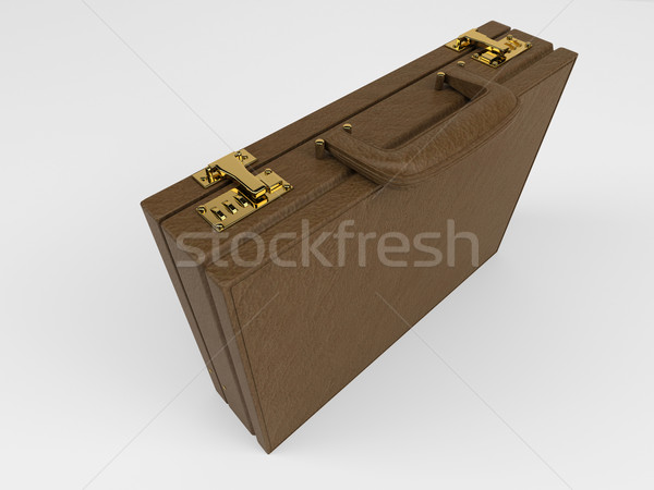 Isolated Briefcase on white Stock photo © kjpargeter