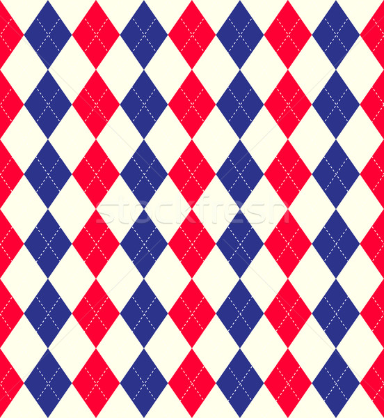 Jubilee colours argyle background Stock photo © kjpargeter