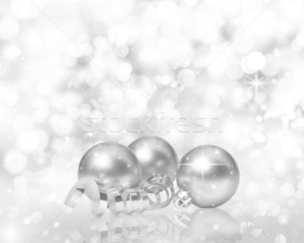 Golden Christmas decorations Stock photo © kjpargeter