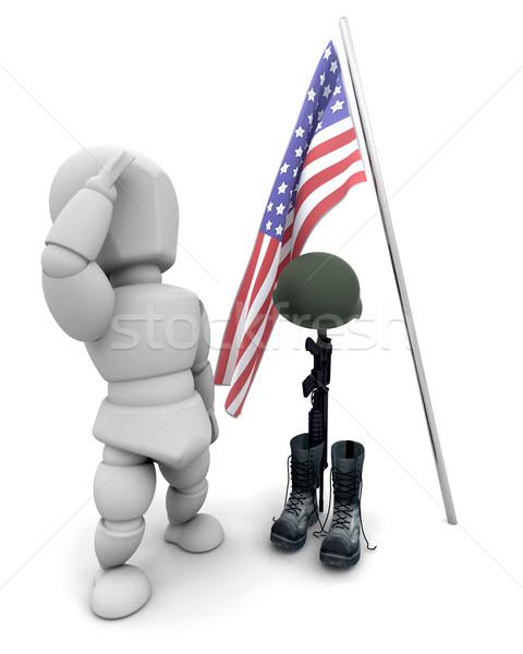 fallen soldier tribute Stock photo © kjpargeter