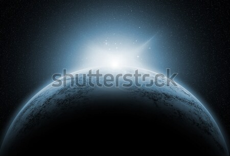 Space background with fictional planets Stock photo © kjpargeter