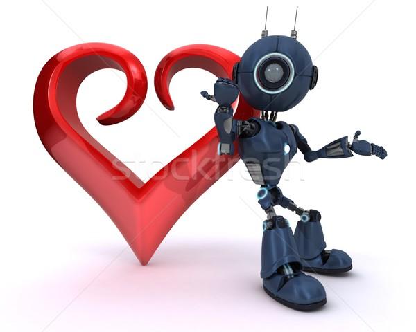 Androide corazón 3d Foto stock © kjpargeter