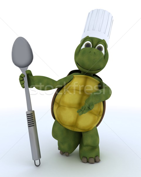 tortoise chef with spoon  Stock photo © kjpargeter