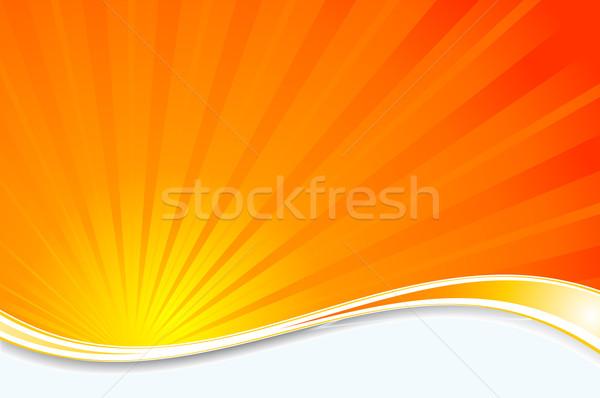 Sunburst background Stock photo © kjpargeter