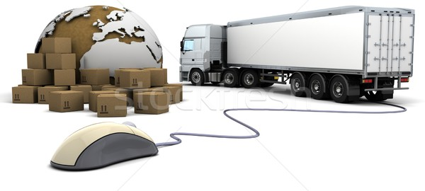 online freight order tracking Stock photo © kjpargeter