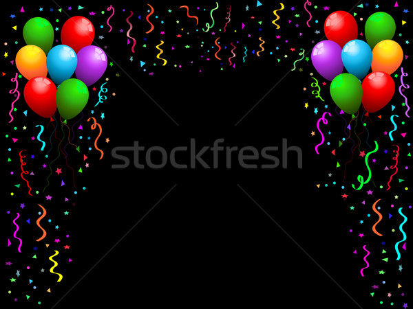 Balloons, streamers and confetti Stock photo © kjpargeter