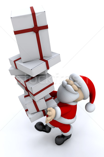Santa carrying gifts Stock photo © kjpargeter