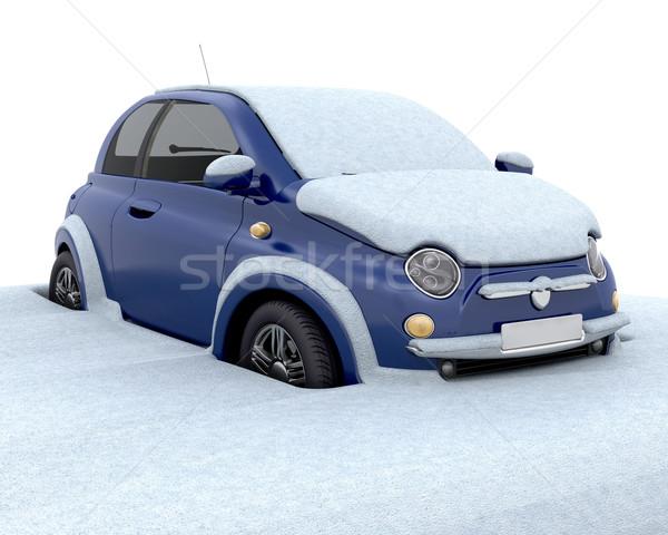 Bloccato neve auto profondità Foto d'archivio © kjpargeter