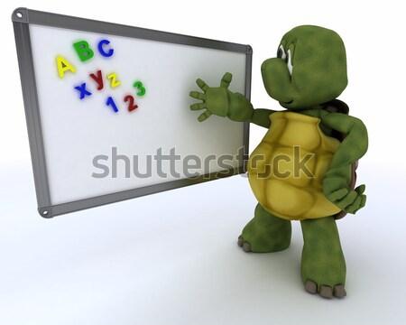 man with school chalk board back to school Stock photo © kjpargeter
