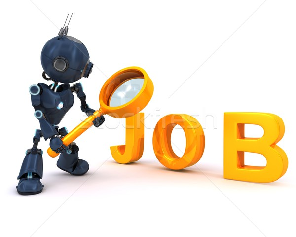 Android searching for a job Stock photo © kjpargeter