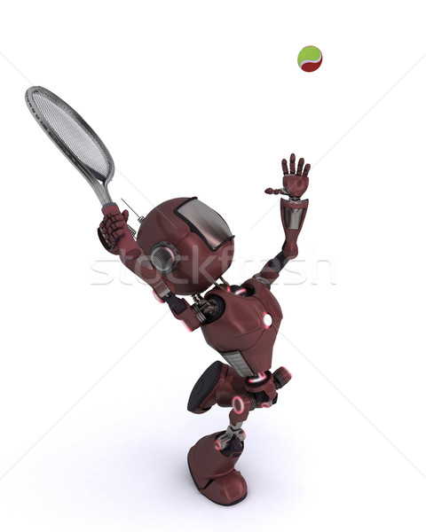 Android playing tennis Stock photo © kjpargeter