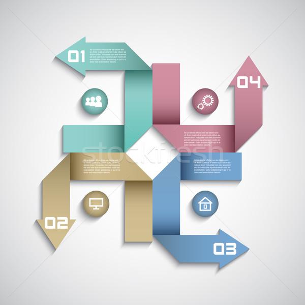 Moderno infografica opzioni layout design sfondo Foto d'archivio © kjpargeter