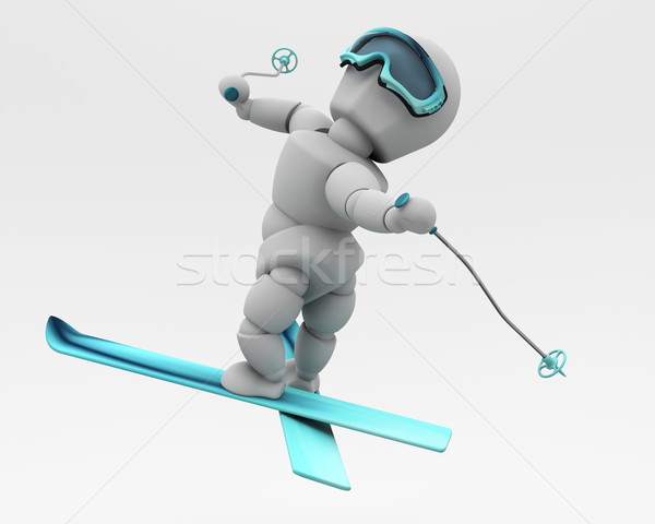 freestyle skiing Stock photo © kjpargeter