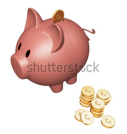 Piggy bank with cents Stock photo © kjpargeter