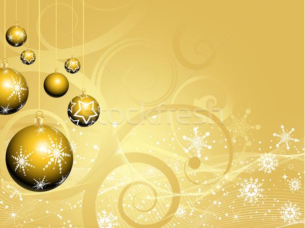 ストックフォト: クリスマス · 安物の宝石 · 抽象的な · 冬 · 星