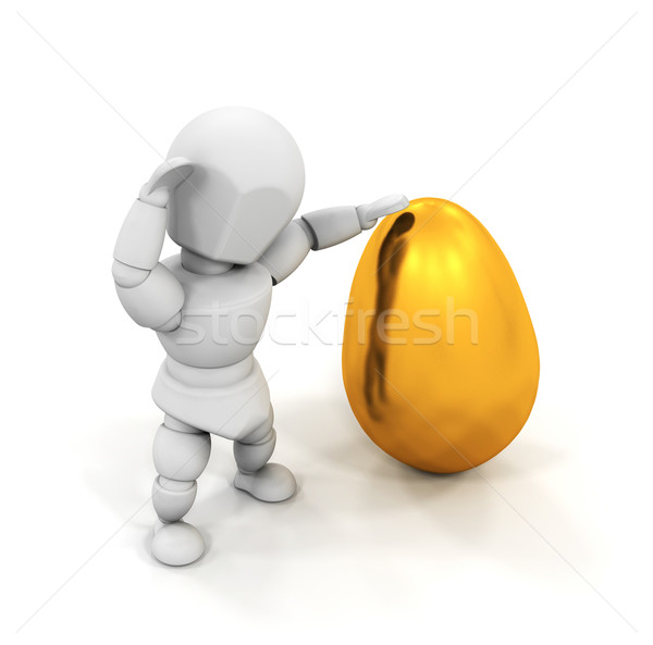 Persona easter egg rendering 3d qualcuno Foto d'archivio © kjpargeter