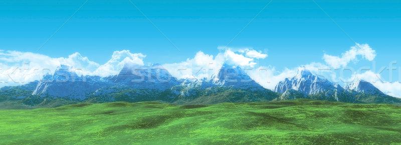 Windescreen mountain landscape Stock photo © kjpargeter