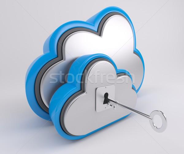 3D bulut sürmek ikon 3d render telefon Stok fotoğraf © kjpargeter