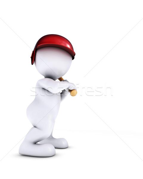 morph man playing baseball Stock photo © kjpargeter
