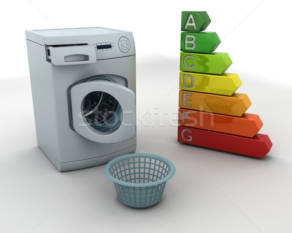 washing machine and laundry basket Stock photo © kjpargeter