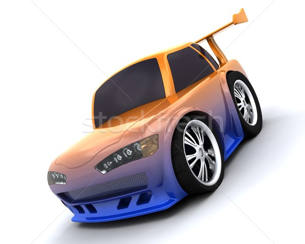 charicature of japanese drift car Stock photo © kjpargeter