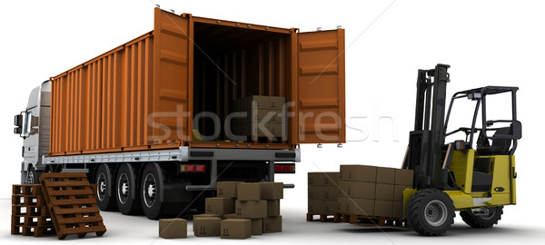 freight container Delivery Vehicle Stock photo © kjpargeter