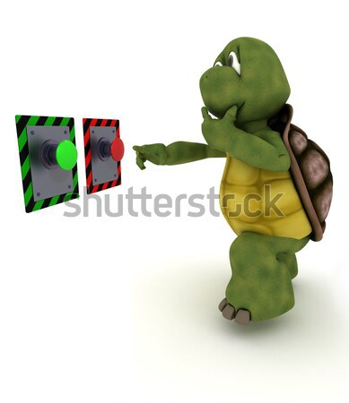 tortoise pulling christmas cracker Stock photo © kjpargeter