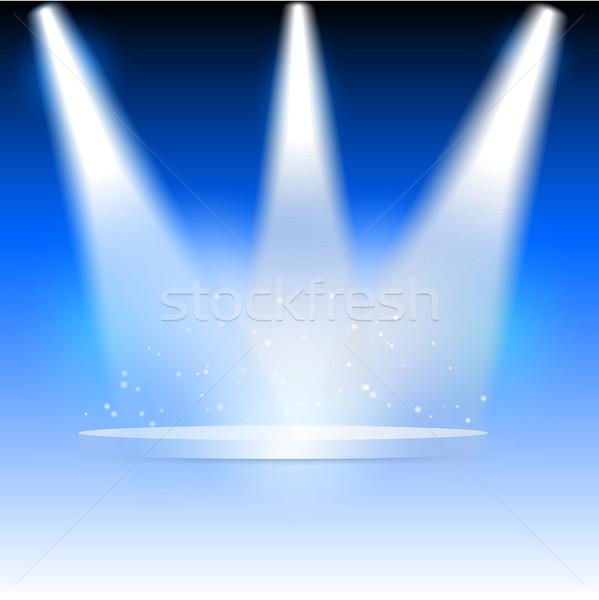 Illustration drei Hintergrund Bühne Beleuchtung Rampenlicht Stock foto © kjpargeter