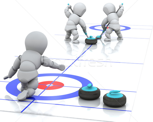 curling Stock photo © kjpargeter