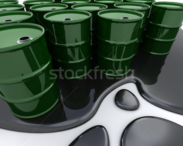 Oil drums sat in spilt oil Stock photo © kjpargeter