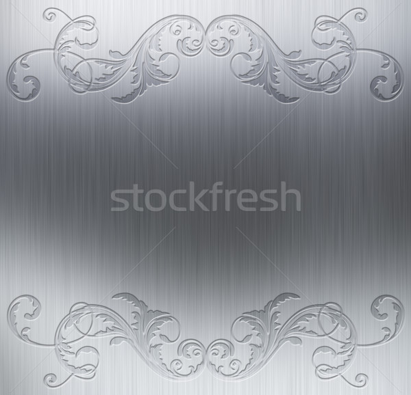 Decorative metal background Stock photo © kjpargeter