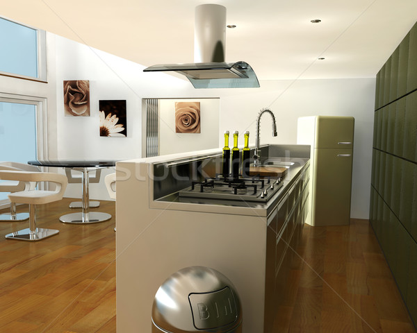 Interior of a kitchen Stock photo © kjpargeter