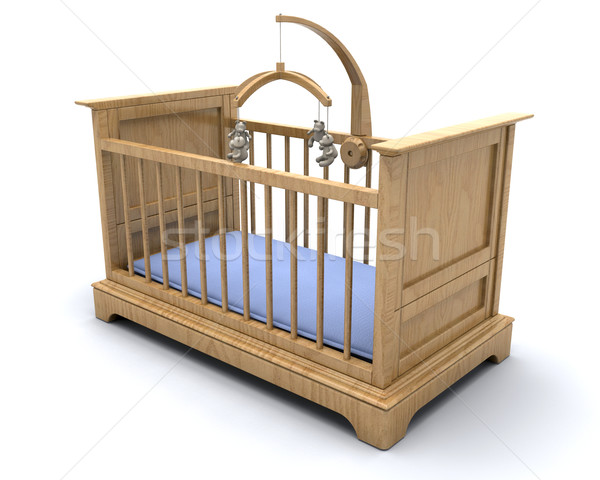 Baby's cot Stock photo © kjpargeter