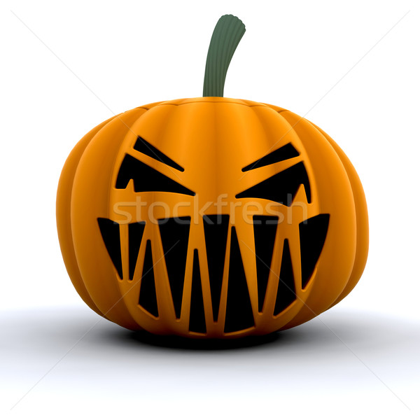 Scary pumpkin Stock photo © kjpargeter