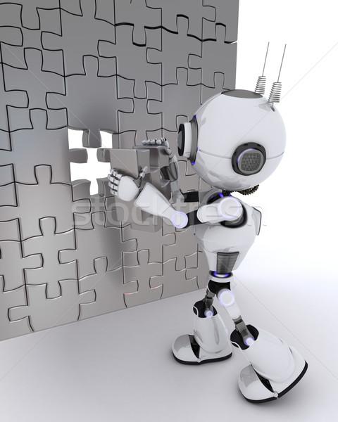 Stockfoto: Robot · 3d · render · man · toekomst · moderne
