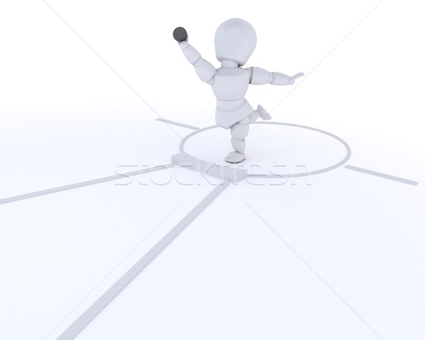 man competing in the shot putt Stock photo © kjpargeter