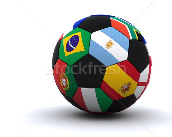 world cup football 2010 Stock photo © kjpargeter