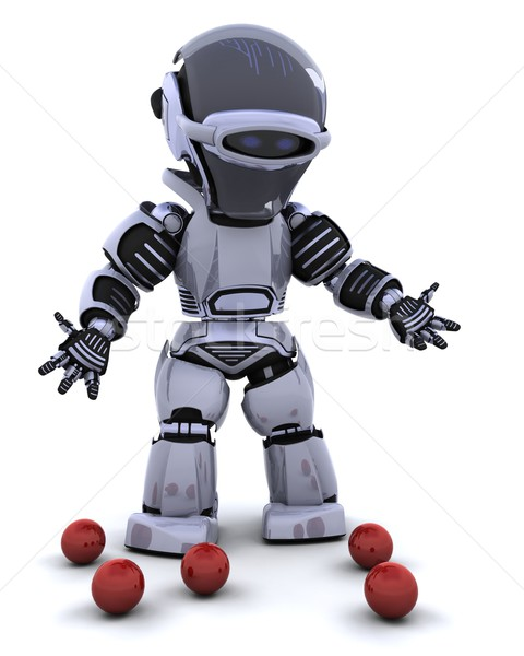 robot juggler Stock photo © kjpargeter