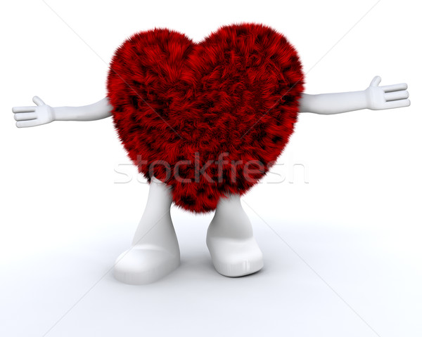 Coeur mec cute personnage amour Photo stock © kjpargeter