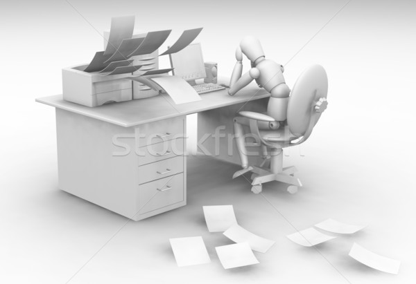 Overworked Stock photo © kjpargeter