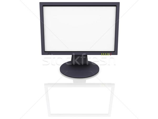 Tft tela 3d render computador tecnologia plasma Foto stock © kjpargeter