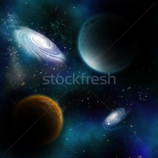 Uzay Gezegenler Gökyüzü Arka Plan Toprak Yıldız Stok