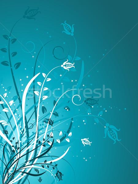 Pracy postęp kwiaty wiosną roślin wektora Zdjęcia stock © kjpargeter