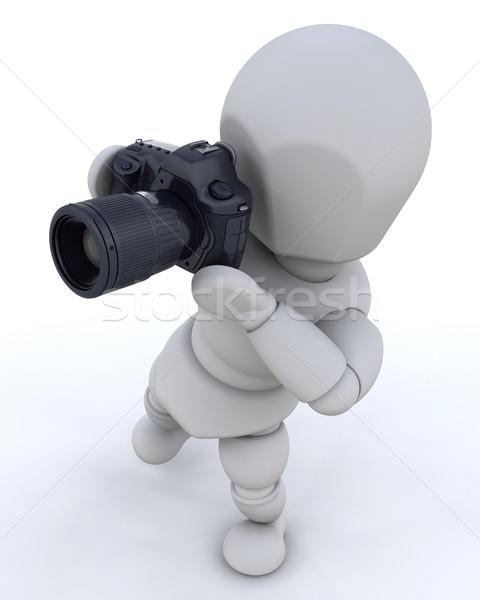 Сток-фото: человека · камеры · 3d · визуализации · фильма · фото · СМИ