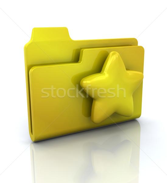 Ikona folderze 3D Internetu projektu przycisk Zdjęcia stock © kjpargeter