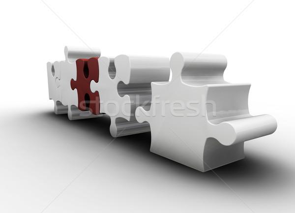 Puzzle pieces Stock photo © kjpargeter