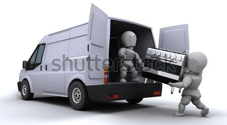 Remoção homens tem 3d render indústria serviço Foto stock © kjpargeter