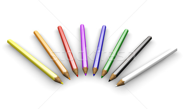Coloured pencils Stock photo © kjpargeter