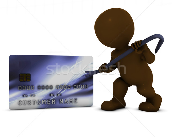 3D Morph Man and credit theft Stock photo © kjpargeter