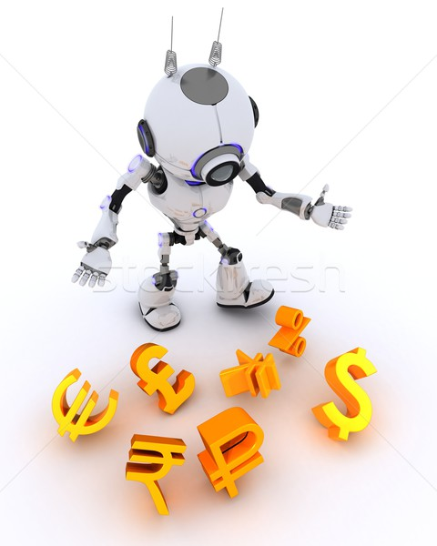 Robot juggling finances Stock photo © kjpargeter